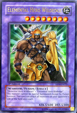 Elemental Hero Wildheart Yu-Gi-Oh Card